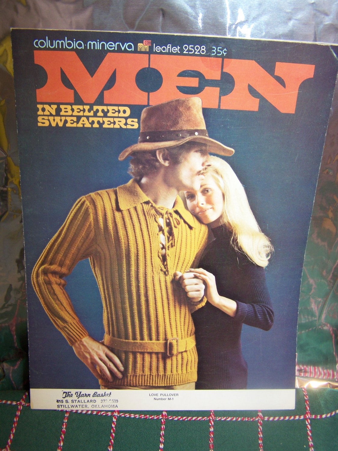 1970's Vintage Men's Hippie Knitting Patterns Belted Sweaters Cardigans Pullovers 2528