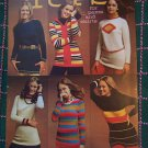 Vintage 70's Knitting Patterns Womens Sweater Tunic Tops 2533