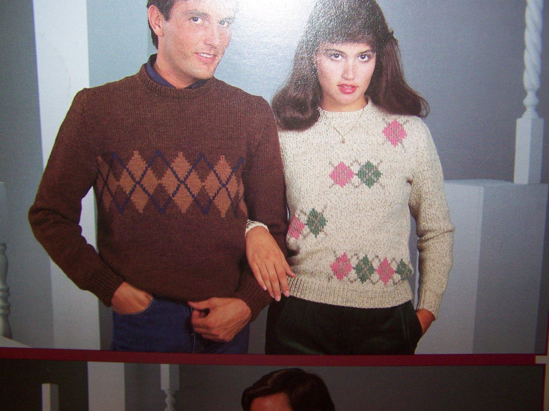 Vintage Argyle Sweaters & Vests Knitting Patterns Book 276