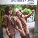 NEW 10 Vintage Bernat Misses Sweater Coats Jackets Knitting Patterns Book 268