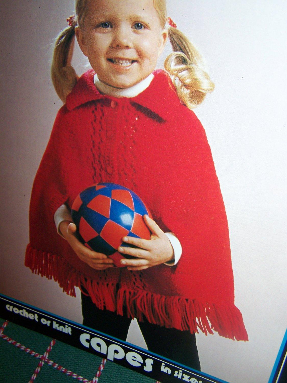 New Vintage Brunswick Crochet & Knit Patterns Girls Capes 2 4 6 8 10 1 2 Leaflet 7310