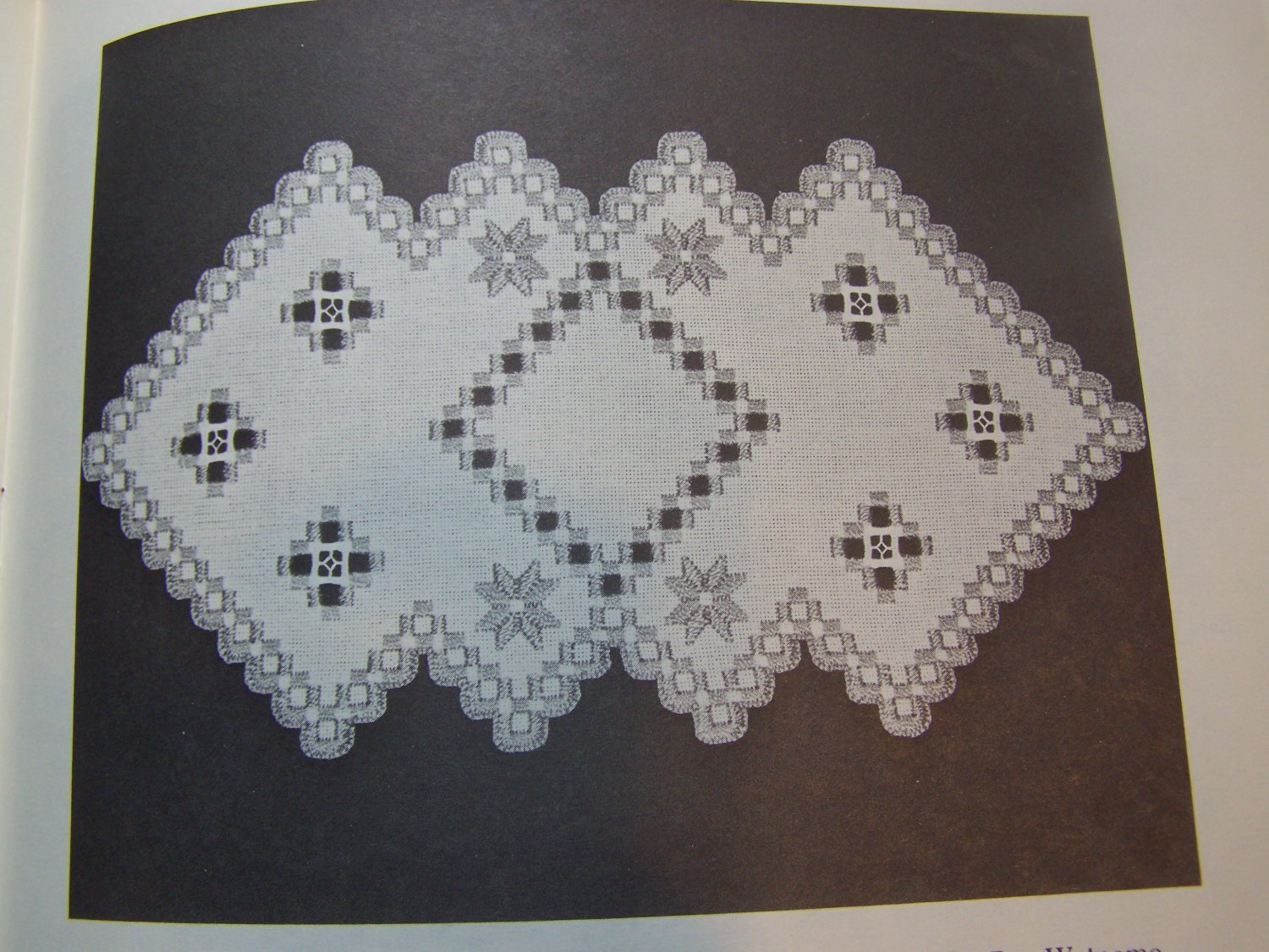 15 Vintage Hardanger Embroidery Patterns Doilies Table