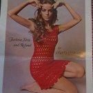 PDF File 1960's Vintage Twiggy Crocheted Lacy Mini Dress Crochet Pattern Misses 6 8 10 12 14