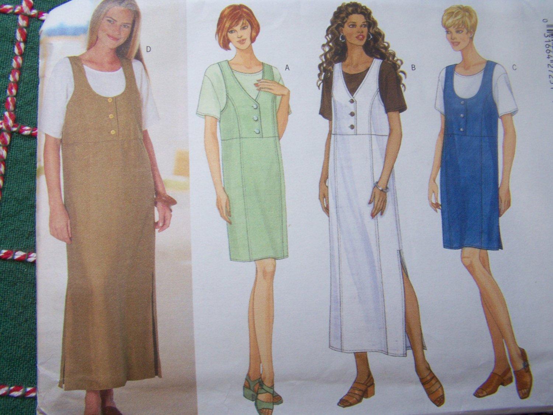 Uncut Jumper Dresses & Top Plus Size 18 20 22 Sewing Pattern 5466