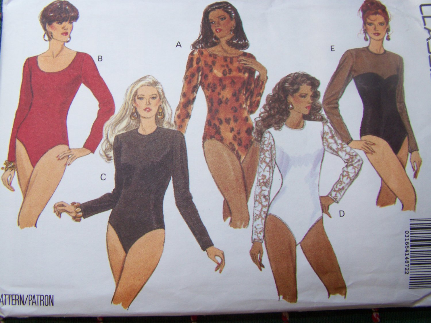 Uncut Easy Plus Size Long Sleeve Bodysuit with Snap Crotch Sewing Pattern 6493