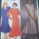 Uncut Vintage Designer Nicole Miller Fishtail Cocktail Dress Sewing Pattern 3162