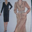Vintage Vogue Plus Size Straight Dress Long Sleeves 18 20 22 Sewing Pattern 8418