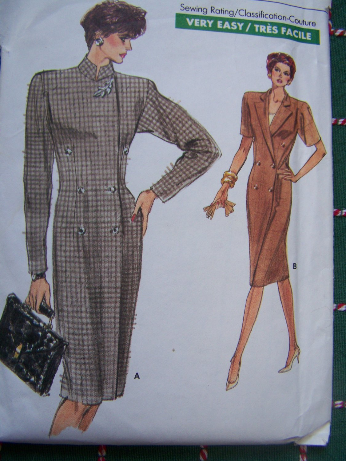 Uncut Easy Vintage Vogue Sewing Pattern 7061 Misses Double Breasted Dress & Top 18 20 22