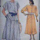 Uncut Vintage Vogue Sewing Pattern 9208 Flared Midi Dress Tunic Skirt 18 20 22