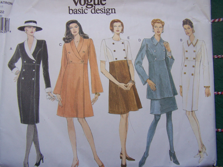 Uncut Vogue Sewing Pattern 1494 Dress Tunic Top A Line Skirt 18 20 22