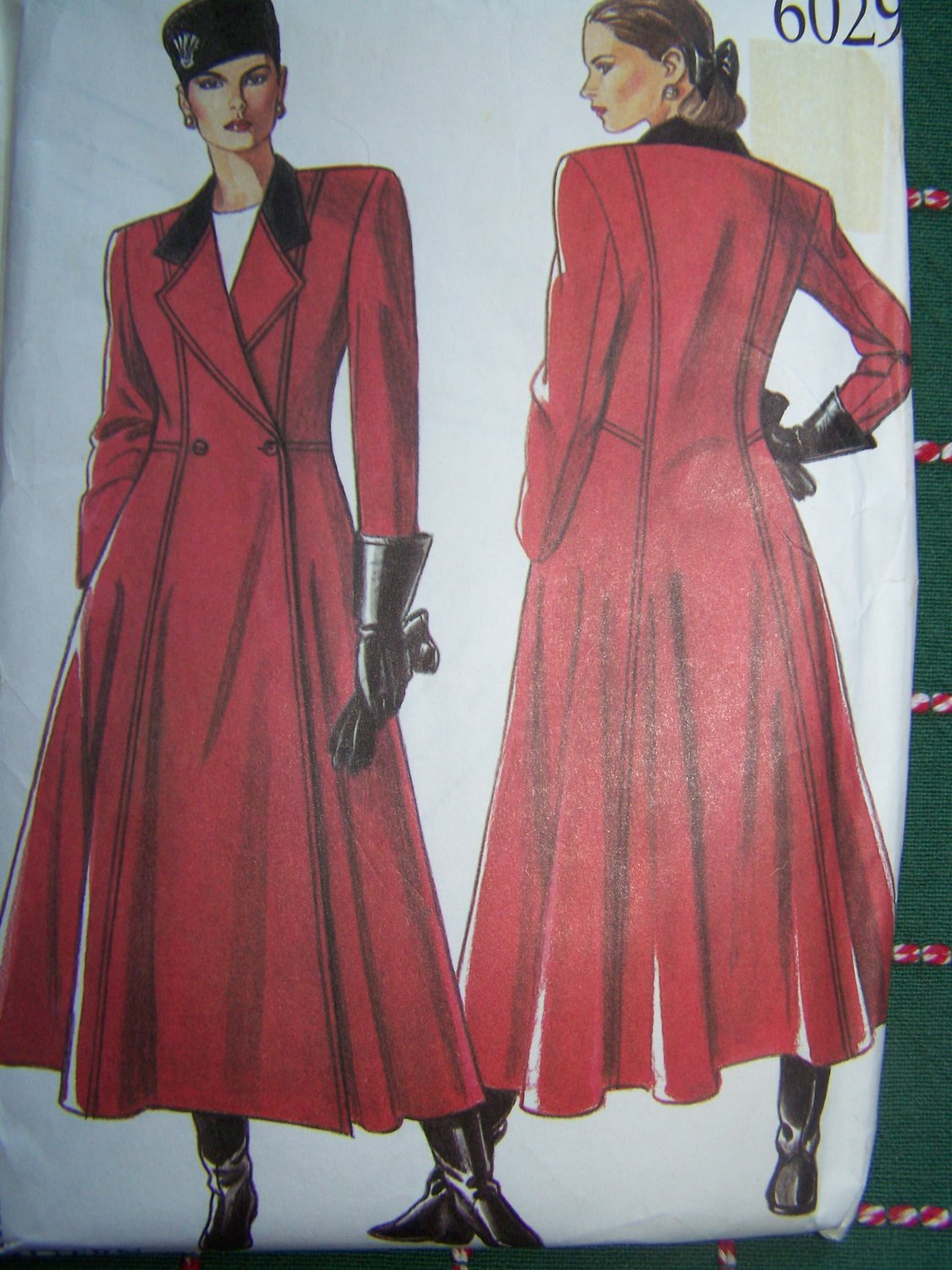 Uncut New Look Sewing Pattern 6029 Misses Long Coat Double Breast Notch Collar