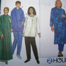Uncut Sewing Pattern 8382 Plus Size Caftan Tunic Top Pants 26 28 30 32 Women's Full FIgure