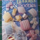 SOLD Heirloom Thread Crochet Patterns Bonnets & Booties Babies 0 3 6 9 12 Months