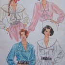 Uncut Vintage Sewing Pattern 9922 Plus Sz Button Up Long Sleeve Blouses Shirts Tunic Top