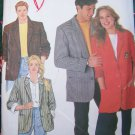 Uncut Sewing Pattern 9803 Unisex Lined Blazer Jacket Mens Womens Boyfriend M L XL
