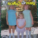 12 Vintage Children's Knit & Crochet Patterns Book 15 Sizes 6 Months - 6 years kid's