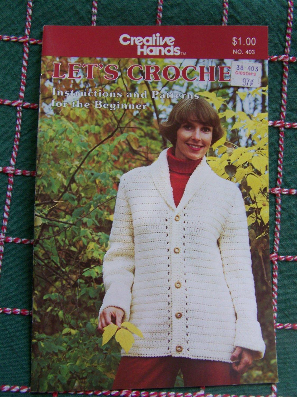 Easy Vintage Beginners Crochet Patterns Afghan Slippers Cardigan Shawl Hat Scarf 403