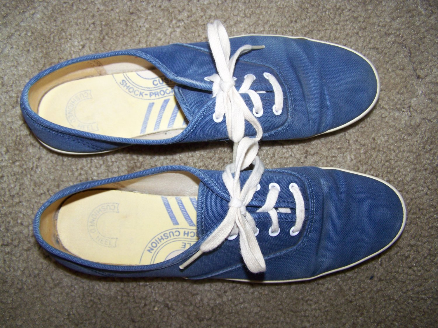 Womens Vintage Keds Blue Canvas Tennis Shoes Sneakers 8 1/2