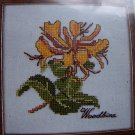 Free USA S&H Elizabeth Stuart Craft Kit Woodbine Floral Cross Stitch Embroidery 207