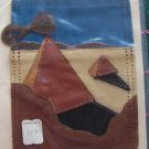 Vintage Visual Leather Craft Kit Hippie Pocket Sew On Jeans Tote Bags 112