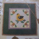 Free USA S&H New Goldfinch Applique Quilting Pattern Wall Hanging