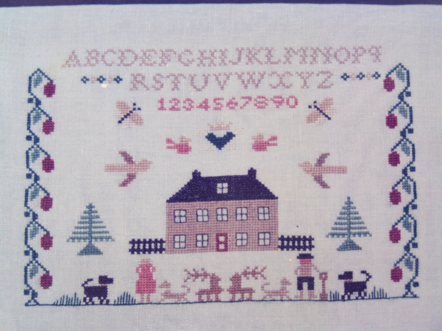 Vintage Jane Greenoff Cross Stitch Embroidery Inglestone Collection #2 Little House