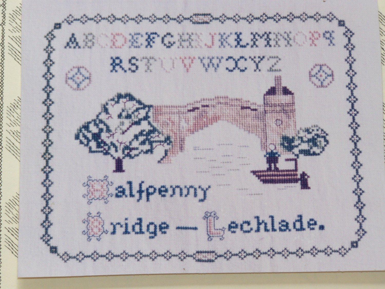 New Cross Stitch Pattern 14 Inglestone Collection England Lechlade Bridge Greenoff