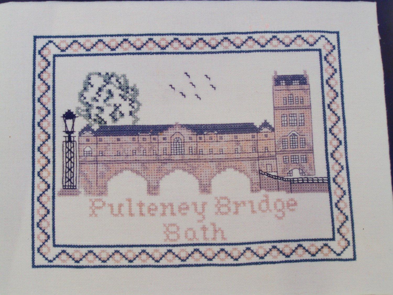 Vintage Cross Stitch Pattern England Pulteney Bridge Bath 32B Greenoff Designs
