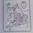Free USA S&H Map of England Counted Cross Stitch Embroidery Chart Pattern # 25