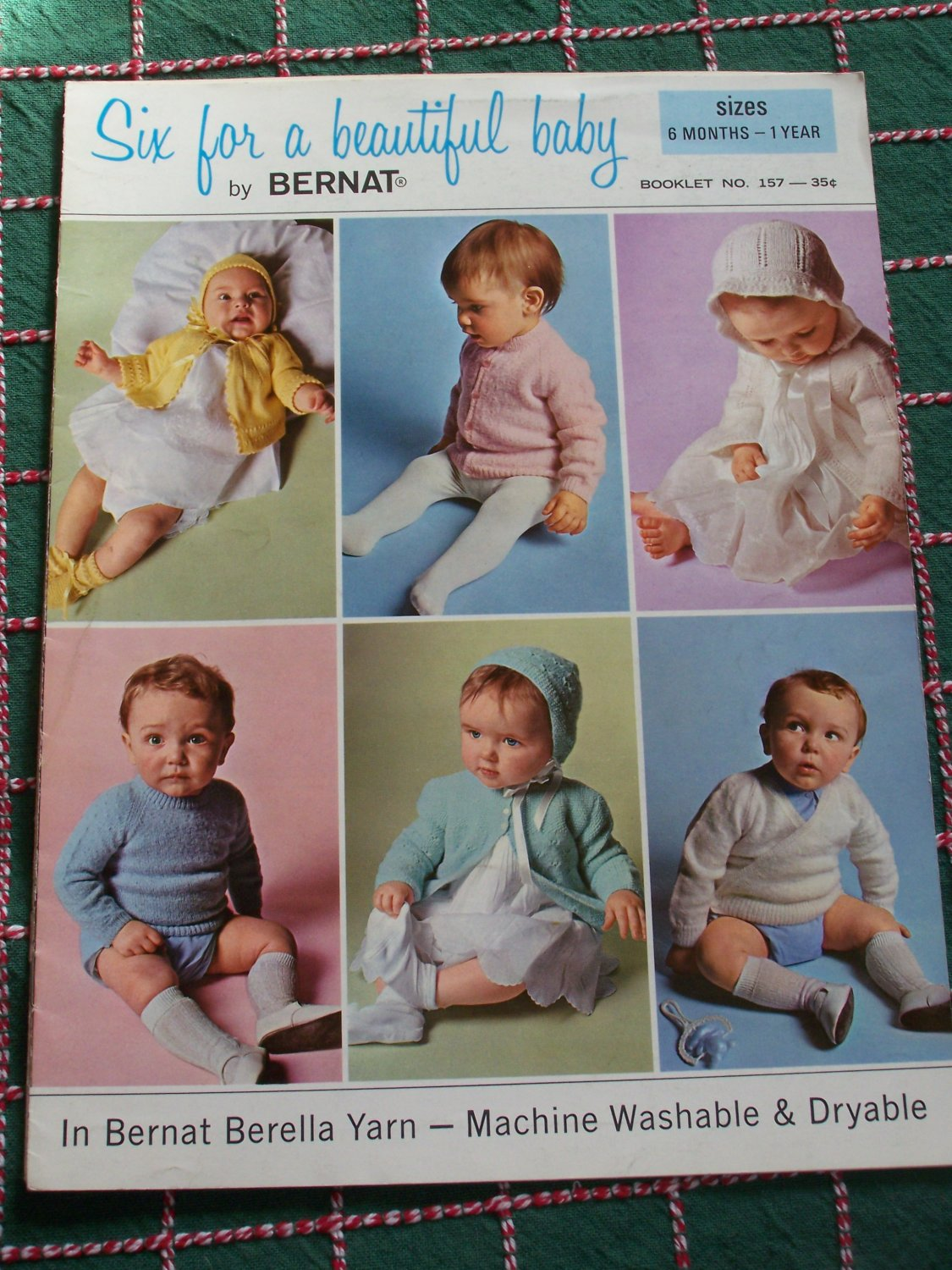 Vintage Knitting Patterns Baby Sweaters & Bonnets 6 Months - 1 Year