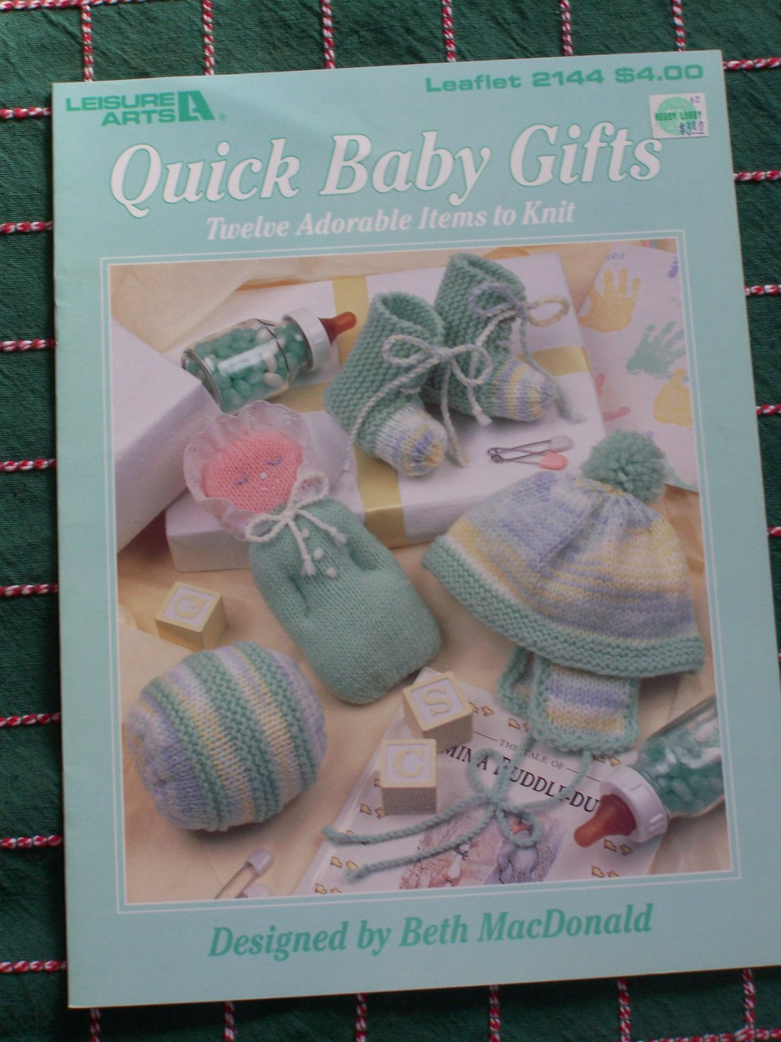 Vintage Knitting Patterns Babies NB - 6M Bonnets Booties Toys Ball 2144