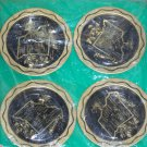 New 4 Vintage State of Missouri Metal Coasters Decorative Souvenir Set