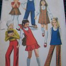 Uncut Girls 4 Vintage Sewing Pattern 8943 Dress Jumper Skirt Pants Tunic