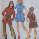 Uncut Girls Vintage Sewing Pattern 5163 Mini Dress & Pants Carrier Pockets Zip Front