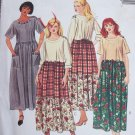 uncut Womens Dress Sewing Pattern 8345 Empire Waist XXL Plus Size 24 26 W