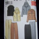 Uncut Sewing Pattern 6947 Misses Loungewear Clothing Hooded Vest Jacket Pants Skirt 8 10 12 14 16 18