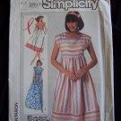 Vintage Uncut Sewing Pattern 7480 Misses Empire Waist Dress Cap Sleeves 14 16