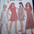 Uncut Girls Easy Sewing Pattern 8391 Jumpsuit 3 Lengths Tie Back 12 14