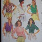 Vintage Uncut Misses 6 Blouse Sewing Patterns 7931 Sz 14