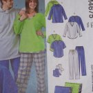 Uncut McCall's Sewing Pattern 4675 Unisex XS S M Winter Loungewear