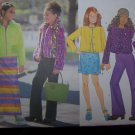 Easy Uncut Girls 12 14 16 Butterick Sewing Pattern 5722 Jacket Skirt Pants Shirt
