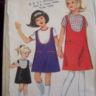 Uncut Vintage Girls Sewing Pattern 6288 Scoop Neck Jumper Dress & Blouse Sz 6