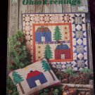 Vintage Ohio Evenings Quilt Patterns WallHangings Pillow Country Cabin Lodge Wall Decorating