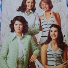 Free USA S&H 70s Vintage Knitting & Crochet Patterns Cardigan Pullover Halter Top 54