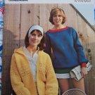 4 70s Womens Vintage Knit & Crochet Sweaters Hoodie Parka Blouson Jacket Drawstring Pullover 2632
