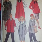 uncut Vintage Maternity Sewing Pattern 9183 Dress Top Jumper Skirt Panel Front Pants Sz 18