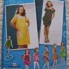 Uncut Girls Sewing Pattern 2983 Knit Summer Dress Sundress Tops 8 10 12 14 16