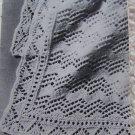 "PDF File Pattern Vintage Shetland Isles Shawl Baby Blanket 45 1/2"" Square 1-1"