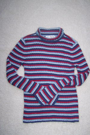 Womens Tommy Hilfiger Jeans Turtleneck Sweater Top Red White Blue S M