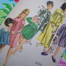 Uncut Girls Vintage Sewing Pattern 3342 Sleepwear Pajamas Gown Robe Babydoll Shorty Pjs